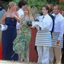 Emma Robertsattended a wedding for friend and stylist Emily Current in Santa Barbara, CA (July 14)