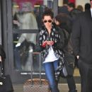 Ashley Tisdale landed at Los Angeles International Airport yesterday, February 26, on a flight from Vancouver.