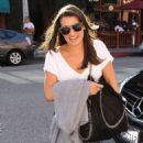 Lea Michele: Leaving a medical building