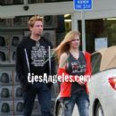Avril Lavigne and Chad Kroeger in Los angeles, October 22 2012