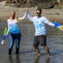 Heidi Pratt in Jeans on the beach in Santa Barbara - 454 x 303
