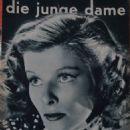 Katharine Hepburn - Die Junge Dame Magazine Cover [Germany] (4 April 1937)
