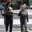 Ashley Tisdale and fiance Christopher French out for breakfast at Vivian's Millenium Cafe in Studio City, California on April 19, 2014