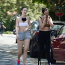 Jayde Nicole in Shorts and Sports Bra – hiking with some girlfriends in the Hollywood Hills - 454 x 511