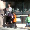 Rhea Durham Takes Her Kids Out In Beverly Hills