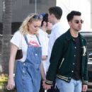 Sophie Turner and Joe Jonas – Shopping at Louis Vuitton and Versace in Beverly Hills
