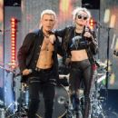 Miley Cyrus & Billy Idol at the 2016 iHeartradio Music Festival - 454 x 582