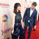 Carice Van Houten and Kees van Nieuwkerk At The 2015 iHeartRadio Music Awards On NBC - Arrivals