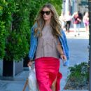 Rebecca Gayheart in Red Skirt – Out in Beverly Hills - 454 x 680