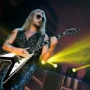 Richie Faulkner of Judas Priest performs on the final night of the band's Firepower World Tour at The Joint inside the Hard Rock Hotel & Casino on June 29, 2019 in Las Vegas, Nevada - 454 x 314