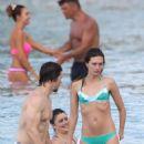Rhea Durham Wearing A Bikini In Barbados