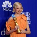 Michelle Williams At The 2020 Golden Globe Awards - Press Room