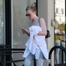 Dakota Fanning – Hits the gym in LA