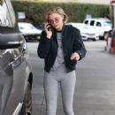 Chloe Moretz in Spandex at a gas station in LA