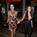 Jemma Lucy and Yazmin Oukhellou – Leaving San Carlo Restaurant in Manchester - 454 x 600