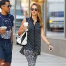 Jessica Alba: hit up a nearby Starbucks coffee shop in New York City