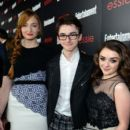 Actors Sophie Turner, Isaac Hempstead-Wright, Maisie Williams attend the Entertainment Weekly celebration honoring this year's SAG Awards nominees sponsored by TNT & TBS and essie at Chateau Marmont on January 17, 2014 in Los Angeles, California - 395 x 594