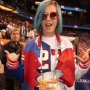 Katy Perry at the Bridgestone Super Bowl XLVI pregame