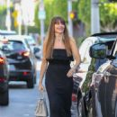 Sofia Vergara in Black Long Dress Out in West Hollywood - 454 x 681