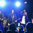 Slash and his band featuring Myles Kennedy and The Conspirators perform a private concert for SiriusXM listeners at Santos Party House in New York City on September 15, 2014 in New York City. Concert Airing Live on SiriusXM's Octane Channel