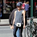 Diane Kruger in Tights headed to the gym in New York City September 27, 2016