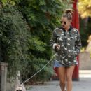 Caroline Flack – Walks her dog in North London - 454 x 578