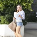 Kelly Brook In Denim Shorts Out In West Hollywood