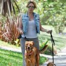 Haylie Duff: out walking her two dogs in Toluca Lake - 433 x 594