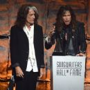Aerosmith attends The Songwriters Hall Of Fame 44th annual Induction at the NY Marriott Marquis on June 13, 2013 - 444 x 594