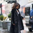 Priyanka Chopra in Long Coat out in New York City