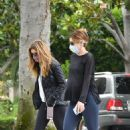 Katherine Schwarzenegger – Morning walk with her mom Maria Shriver in Brentwood
