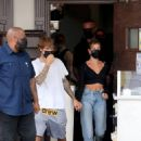Hailey and Justin Bieber – Spotted at IL Pastaio in Beverly Hills