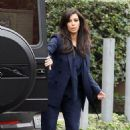 Kim Kardashian: headed into a Beverly Hills business office