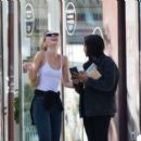 Lily-Rose Depp with Leila Bekhti – Pictured at Cafe Quartier General in Paris - 454 x 395