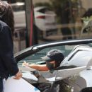 Vanessa Hudgens – Seen in her Ferrari after leaving a workout at Dog Pound in West Hollywood