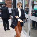 Elizabeth Olsen – Arrives at AOL Build in New York City