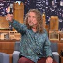 Robert Plant Visits 'The Tonight Show Starring Jimmy Fallon' at Rockefeller Center on September 26, 2014 in New York City