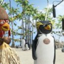 Chicken Joe (voiced by Jon Heder, left) and Cody Maverick (voiced by Shia LaBeouf, right) in Columbia Pictures/Sony Pictures Animation's Surf's Up.