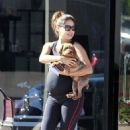 Vanessa Minnillo: picking up her pooch pal from a pet spa in Los Angeles