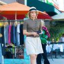 Dianna Agron: Shopping at Liberty clothing