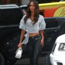 Jasmine Tookes – Arriving at the Victorias Secret fitting in New York - 454 x 681