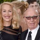 Still going strong! Jerry Hall, 59, hits the Golden Globes red carpet on the arm of 84-year-old Rupert Murdoch - three months after it was revealed they are dating - 11 Jan 2016 - 454 x 255