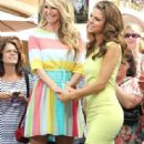 Christie Brinkley stops by The Grove in California for an interview with 'Extra's' Maria Menounos about her role in 'Chicago!' on May 7th, 2012