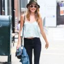 Behati Prinsloo at a photoshoot in New York City (July 9)