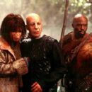 Ari (Helena Bonham Carter), Tival (Erick Avari) and Gunnar (Evan Dexter Parke) in 20th Century Fox's Planet Of The Apes - 2001 - 400 x 286