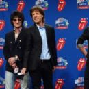 The Rolling Stones answers questions during the Sprint Half Time Show Press Conference at the Renaissance Center on February 2, 2006 in Detroit, Michigan