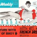Cover and inside page of Kine Weekly April 30 1964 - spread for 'French Dressing' - 454 x 292