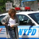Jennifer Lopez on the set of 'Shades of Blue' in NYC - 454 x 354
