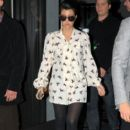 Kourtney Kardashian Leaves Her Hotel 10/4/2011