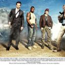 (left to right) Bradley Cooper as Templeton 'Face' Peck; UFC light heavyweight Quinton 'Rampage' Jackson as B.A. Baracas; Sharlto Copley as H.M. 'Howling Mad' Murdock; and Liam Neeson as Col Hannibal Smith. Photo credit: Michael Mu - 454 x 330